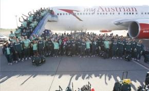 Hazajöttek az olimpiai sportolóink az aranygéppel
