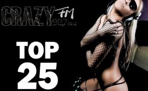 A Crazy FM egyedi heti toplistája!