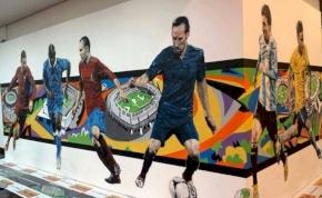 Zseniális falfestmény a legnagyobb vb-sztárokról
