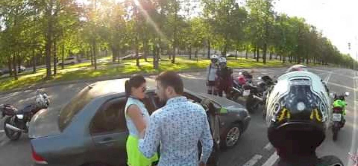 Meglepően szokatlan véget ért az orosz motorosok támadása