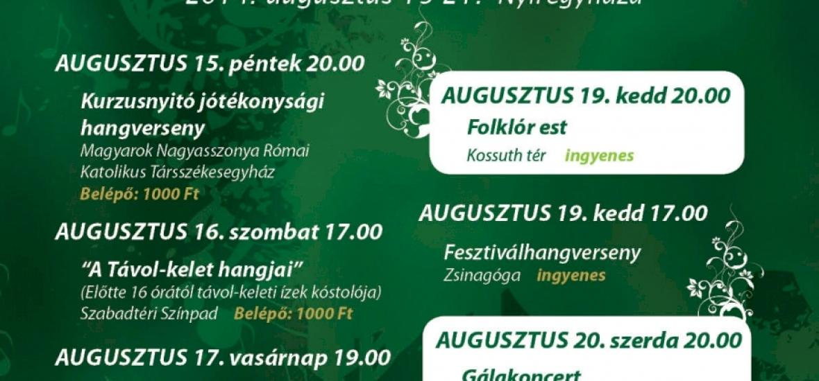 Cantemus Nemzetközi Kórusfesztivál már tizedik alkalommal