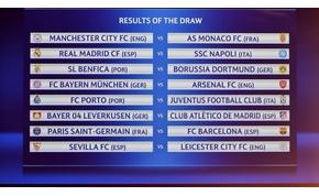 Itt vannak a Bajnokok Ligája és az Európa-liga friss párosításai