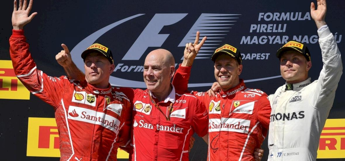 Ferrari első és második hely a Magyar Nagydíjon