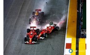 A Ferrari teljesen elvérzett Szingapúrban