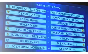 Íme a Bajnokok Ligája és az Európa-liga sorsolása