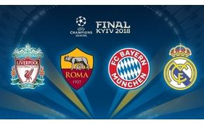 Bajnokok Ligája és Európa-liga elődöntők