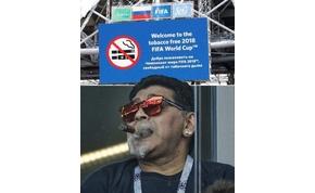 Diego Maradonát nem érdekelte a szabály, majd elnézést kért