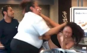 Óriási verekedés tört ki a McDonald's-ban