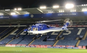 Videón a Leicester-tulaj tragikus balesete