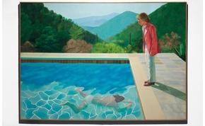 Egy ember úszik, a másik meg nézi – hatalmas összegért, rekord áron kelt a festmény