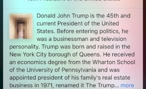 Siri, az Apple-asszisztens obszcén képpel illusztrálta Donald Trumpot