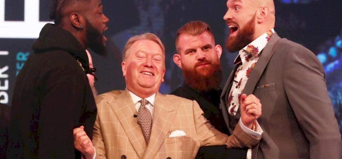 Fury és Wilder már a sajtótájékoztatón majdnem összeverte egymást