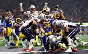Super Bowl: a meccs egyetlen touchdownjával nyert a New England