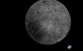 Látványos képen a Föld és a Hold kettőse