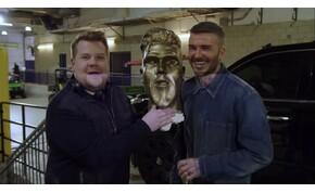 Beckham arcát sosem feledjük, amikor meglátja saját szobrát