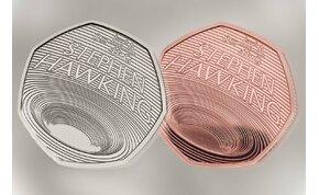 Stephen Hawkingra emlékezik az új 50 pennys pénzérme