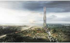 Létavértes méretű városban építik Nyugat-Európa giga-felhőkarcolóját