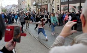 A Miskolci Balett flashmob akcióval harangozta be a Horizont fesztivált
