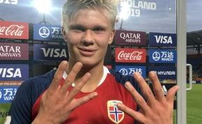 A norvég tini egy meccsen kilenc gólt rúgott az U20-as vb-n