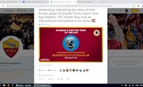 Az AS Roma Twitter-oldalán köszöntötte a magyar focicsapatot