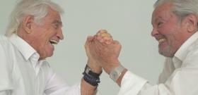 Belmondo vs Alain Delon fight over 80 - new video