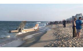 Ilyen profin ember még nem landolt repülővel egy strandon – videó