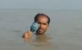 Így is lehet egy árvízről tudósítani – videó