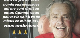 Alain Delon first posted after suffering a stroke