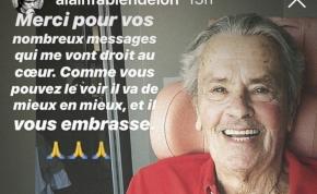 Agyvérzése után először üzent Alain Delon