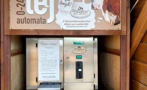 Egy magyar faluban éjjel-nappal működő tejautomatát nyitottak