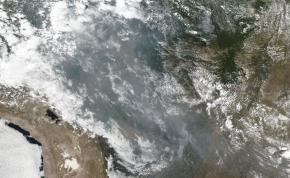 Félelmetes fotók az Amazonas esőerdejében tomboló tűzről
