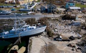 Képeken a Dorian hurrikán pusztítása, mely hatása minket is elérhet