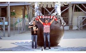 Fogadást veszített, el kellett énekelnie a DVTK-indulót a Fradi-stadionnál