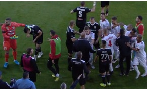 Könnyed pofozkodás volt a Kisvárda-Mezőkövesd meccs félidejében