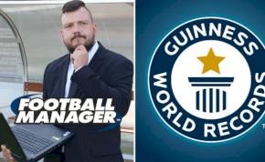 Egy focirajongó új Guinness-rekordot állított fel a Football Managerben