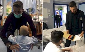 Emberségből vizsgázott jelesre a beteg gyerekeket látogató olasz focista