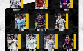 Real Madrid fölény az évtized csapatában