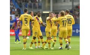 A Messi-Griezmann-Suarez hármas elintézte a merészen játszó Eibart