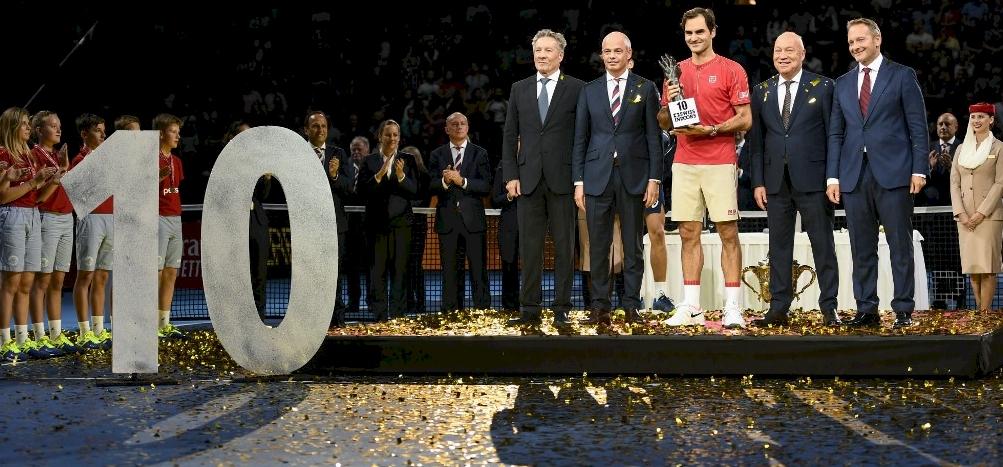Federer jubileumi győzelmet ünnepelhetett Bázelben – videó