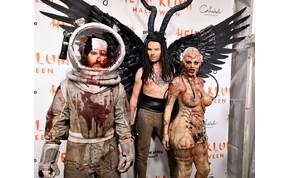 Alien és Heidi Klum: elképesztő volt a modell halloweeni jelmeze – videó