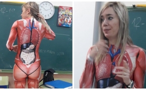 Egy biológia tanár ötletes módon mutatta be az emberi testet