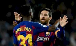 Lionel Messi és Ansu Fati: 2 perc, 2 passz, 2 lövés, 2 gól – videó