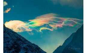 Jégkristály felhők jelentek meg a szibériai hegyekben – fotók