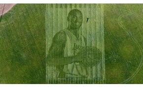 Fűbe nyírt portré készült Kobe Bryant emlékére