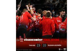 Csak egy gól, de már nem tud csoportelső lenni a BL-ben a Telekom Veszprém
