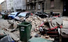 Sérült és menekülő emberek, romokban Zágráb a földrengés után – galéria
