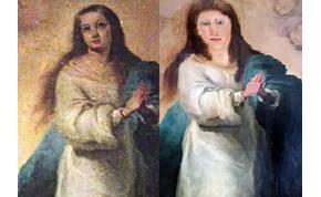 Megint tönkretettek egy régi festményt: most Szűz Mária képe járt rosszul