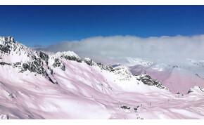 Csodálatos, de érthetetlen: miért lett rózsaszín a hó az Alpokban?