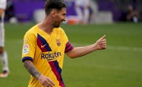 Kivégezte ellenfelét a Barcelona, Messi újabb rekordot állított fel