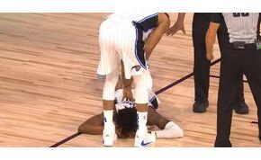 Brutálisat esett az Orlando Magic fiatal kosarasa – videó